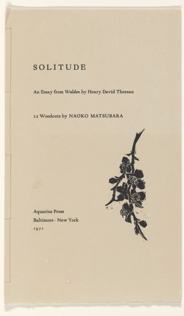 Solitude An Essay From Walden By Henry David Thoreau
