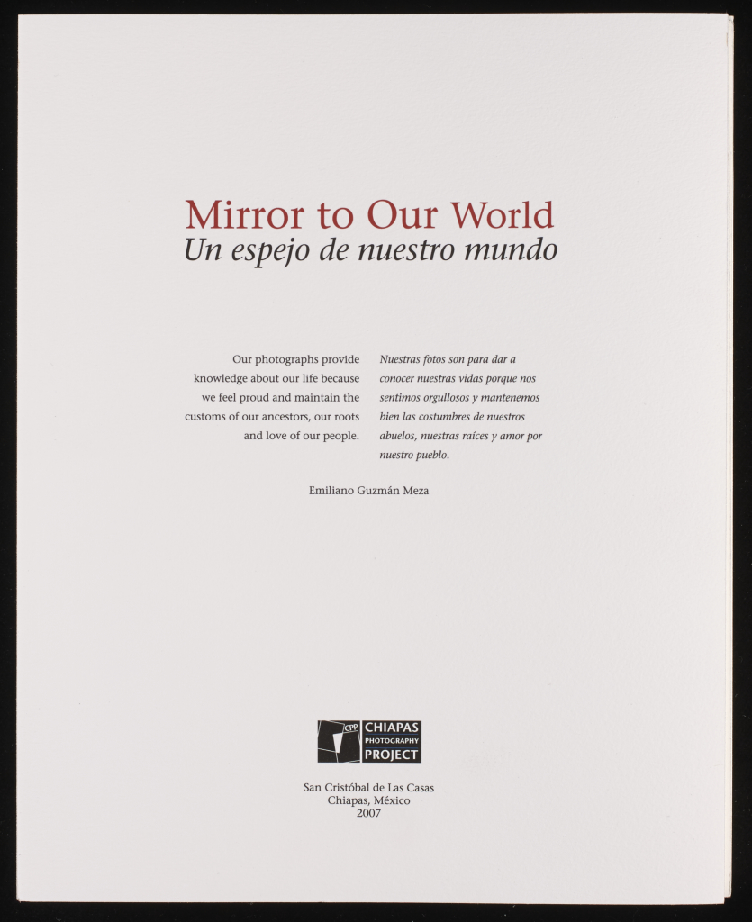 title page for the portfolio mirror to our world